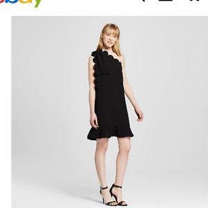 Victoria Beckham Target Black One Shoulder Dress